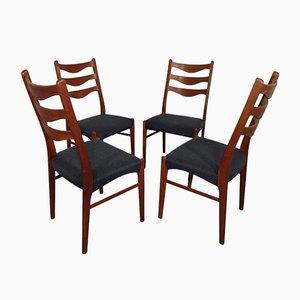 Sedie da pranzo in teak di Arne Wahl Iversen per Glyngøre, anni '60, set di 4