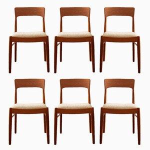 Dänische Esszimmerstühle aus Teak von Kai Kristiansen für Korup, 1960er, 6er Set