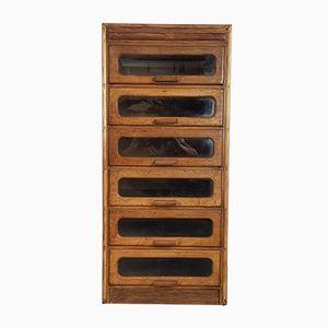 Mid-Century Oak 6 Drawer Haberdashery Cabinet, 1960s