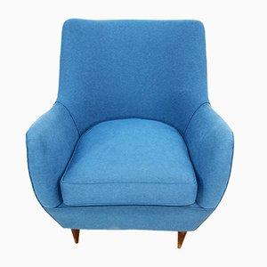 Blue Armchair by Guglielmo Veronesi, 1950s