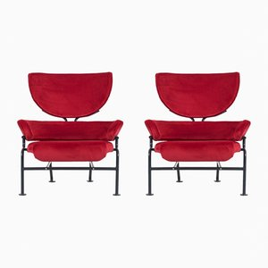 PL19 Lounge Chairs by Franco Albini for Poggi, 1960s, Set of 2
