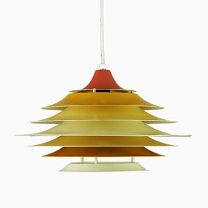 Lámpara colgante danesa de Bent Karlby para Lyfa, años 60