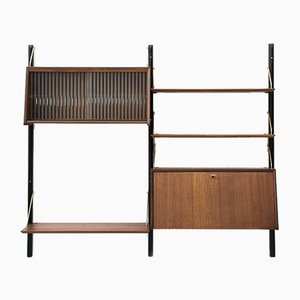 Dutch 2-Piece Wall Unit by Louis van Teeffelen for Wébé, 1950s