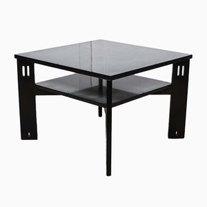 Black Lacquered Coffee Table by Umberto Asnago for Giorgetti, 1970s