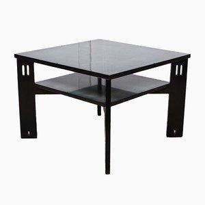 Table Basse Laquée Noire par Umberto Asnago pour Giorgetti, 1970s