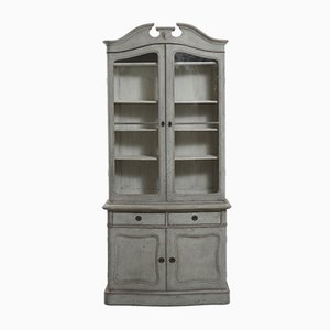 Antique 2-Piece Vitrine Cabinet