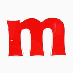 Cartel con la letra M vintage