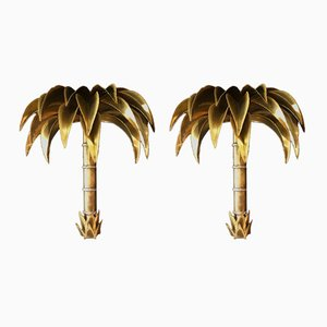 Palm Tree Wall Lights from Maison Jansen, 1960s, Set of 2