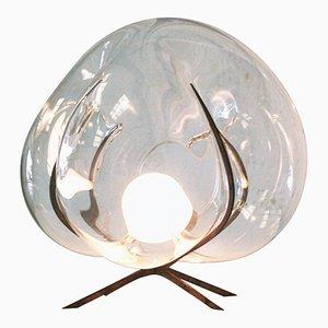 Lampada da terra Exhale in cristallo di Catie Newell