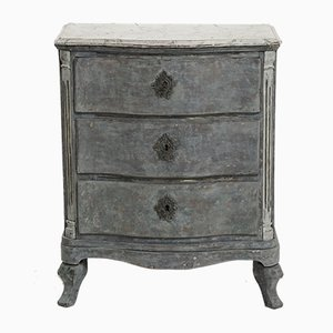 Antique Rococo-Style Chest of Drawers with a Faux Marble Top