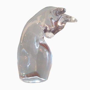 Vintage Crystal Cat Sculpture from Daum
