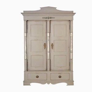 Antique Carved 2-Door Armoire
