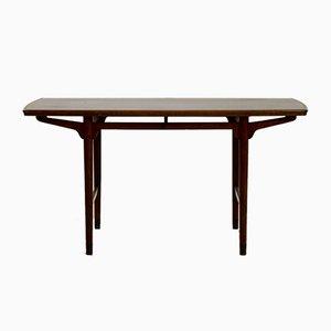 Tavolino da caffè in teak con piedi in ottone, anni '60