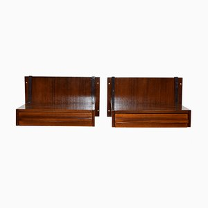 Mid-Century Wall-Hanging Shelves with Drawers, 1960s, Set of 2