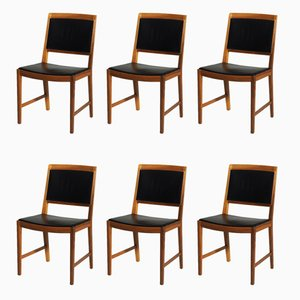 Vintage Walnut Chairs by Bertil Fridhagen, 1960s, Set of 6