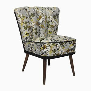 Vintage Ivy Printed Cocktail Lounge Chair