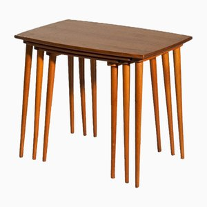 Tables Gigognes Mid-Century en Teck, 1960s