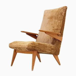 Mid-Century British No. 813 Oak Lounge Chair from Parker Knoll, 1950s