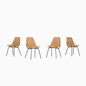 Italia 100 Dining Chairs from Rotanhuis, 1960s, Set of 4