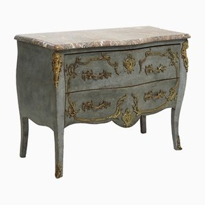 Antique Chest or Side Table with Marble Top