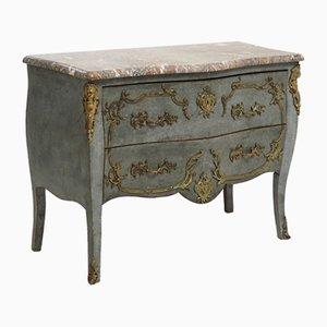 Table d'Appoint Antique avec Plateau en Marbre