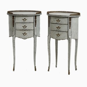 Vintage Bronze Mounted Side Tables, Set of 2