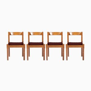 Customizable Carimate Dining Chairs by Vico Magistretti for Cassina, 1960s, Set of 4