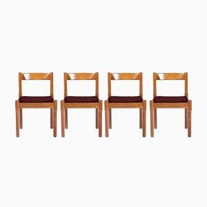 Personalisierbare Carimate Esszimmerstühle von Vico Magistretti für Cassina, 1960er, 4er Set