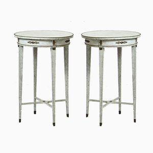 Antique Side Tables, Set of 2