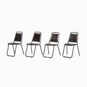 Chaises de Café Vintage, France, Set de 4