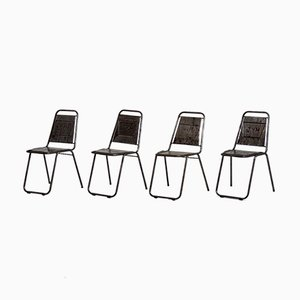 Vintage French Cafe Chairs, Set of 4