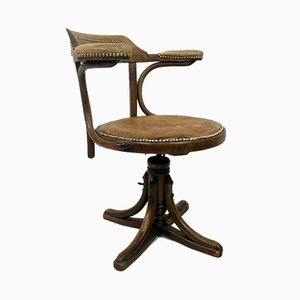 Antique Bentwood Swivel Office Chair from Josef Hofmann