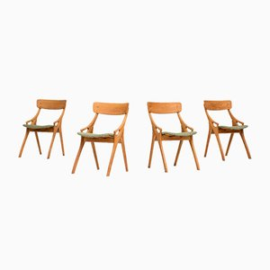Dining Chairs by Arne Hovmand Olsen for Mogens Kold, 1958, Set of 4