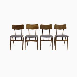 Teak Dining Chairs by Louis van Teeffelen for Wébé, 1960s, Set of 4