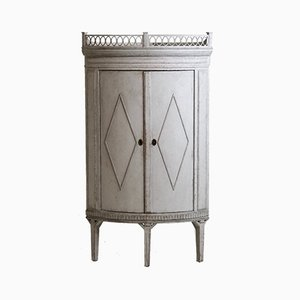 Antiker Eckschrank Gustavian Stil