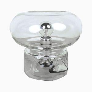 Lámpara de mesa de vidrio, años 60