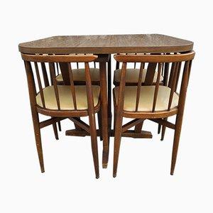 Tavolo con 4 sedie di Thonet, anni '60