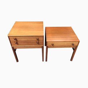 Casino Bedside Tables by Sven Engström & Gunnar Myrstrand for Tingströms, 1960s, Set of 2