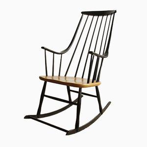 Rocking Chair Mid-Century en Hêtre, 1960s