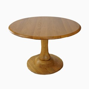 Round Oak Tulip Table, 1970s