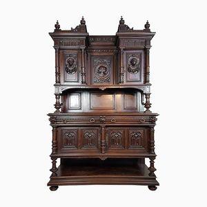 Antikes Neo-Renaissance Walnuss Sideboard