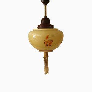 Lámpara colgante floral, años 30