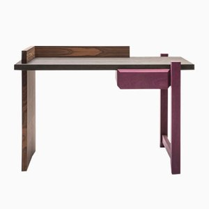 Ziricote & Amaranth Wood Desk by Antonio Aricò for Editamateria
