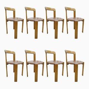 Chaises de Salle à Manger par Bruno Rey pour Dietiker, 1970s, Set de 8