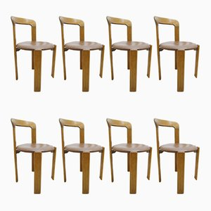 Dining Chairs by Bruno Rey for Dietiker, 1970s, Set of 8
