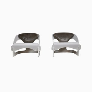 Armchairs by Joe Colombo for Kartell, 1964, Set of 2