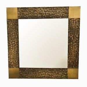 Vintage Spiegel aus Bronze von Luciano Frigerio