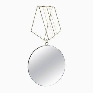Medallion Spiegel mit Messingrahmen von Rooms
