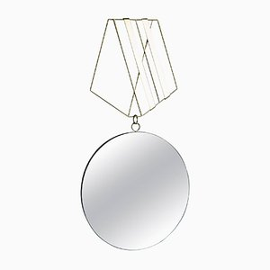 Miroir Medallion en Laiton par Rooms