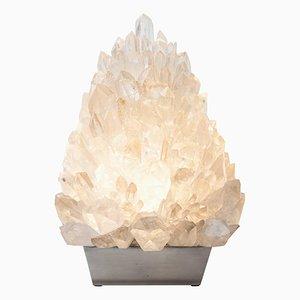 Lampe de Bureau Meseta en Cristal Givré par Demian Quincke
